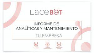 Portada informe data studio mensual creado por Lacebot
