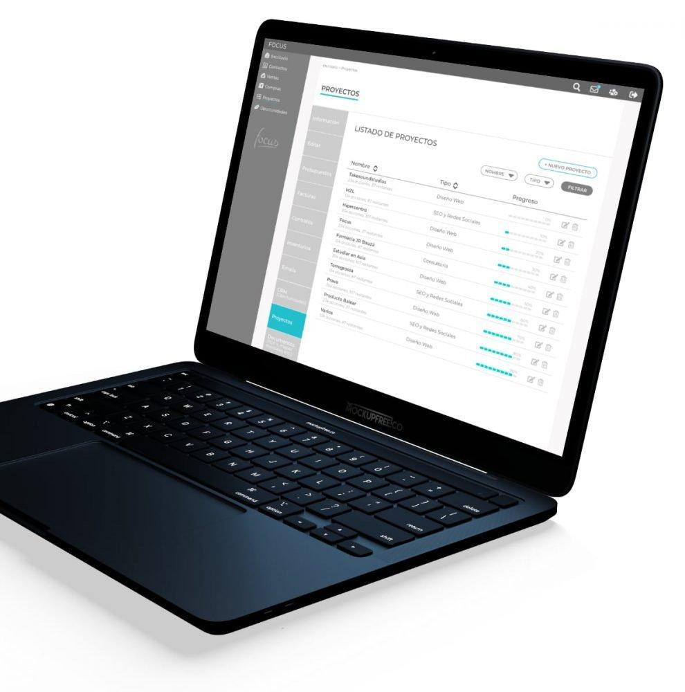 Gestión de tareas y proyectos en Focus app. Elaborado por Lacebot para Desarrollo Web en Mallorca