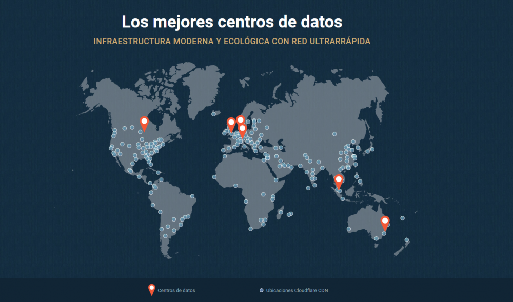 (Desarrollo web en Mallorca) Mapa de Centros de datos del hosting profesional de SiteGround | Consejo experto de Diseño Web en Mallorca creado por Lacebot