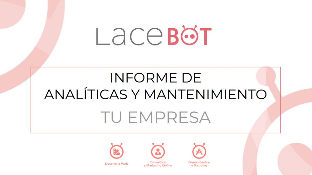 Data Studio. Informe de analítica web y mantenimiento. Portada - Lacebot